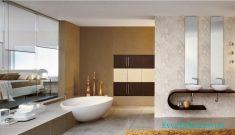 Banyoda Bej Renk Stili