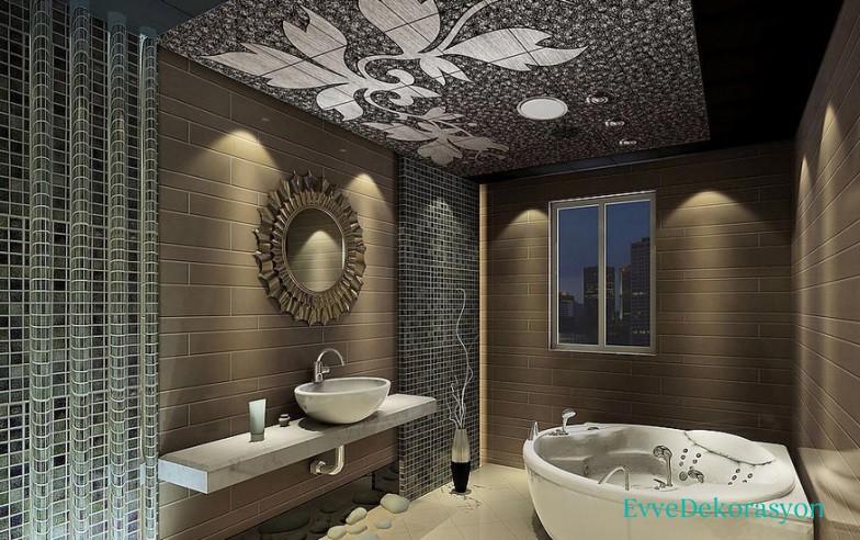 Bej Banyolarda Harika Tasarım
