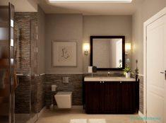 Bej Rengi Banyo Duvar Modelleri