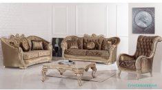 Kahverengi Lüks Salon koltukları