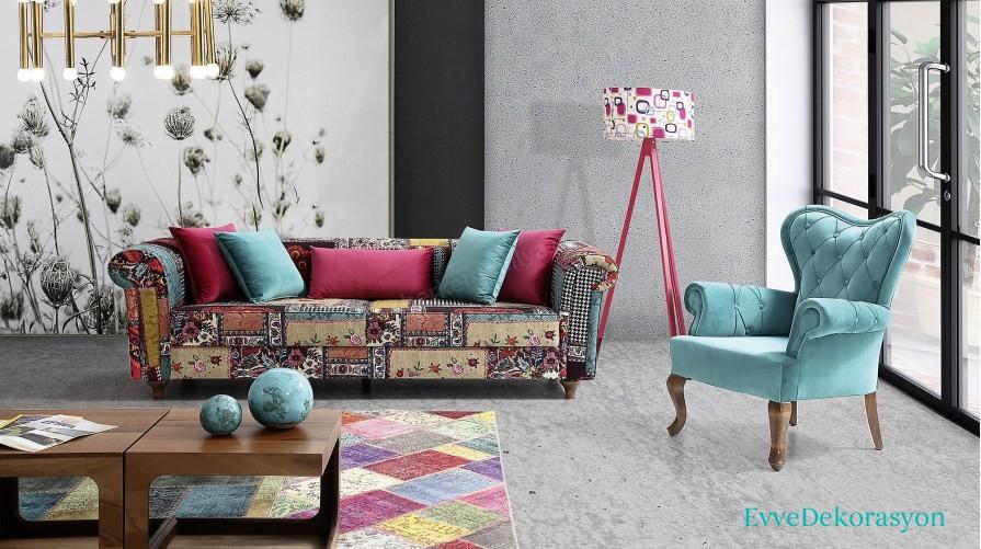 Açık Renk Avangart Salon Modelleri