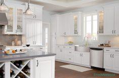 Beyaz Dolaplı Mutfak Tasarımı