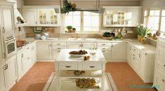 Beyaz Mutfak Dolap Tasarımı