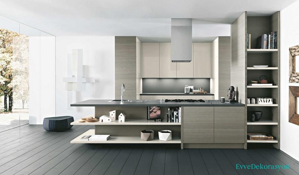 Beyaz Renk İtalyan Mutfak Modelleri