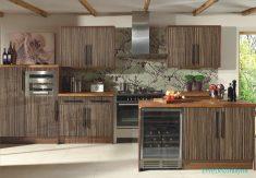 Desenli Mutfak Dolap Tasarımı