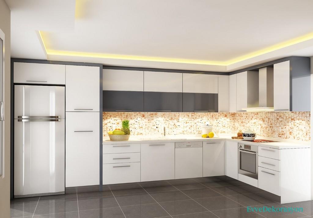 Düz Panel Mutfak Dolap Tasarımı
