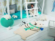Beyaz Çocuk Odası Halı Modelleri