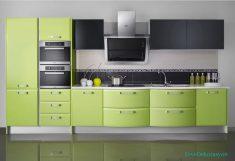 Fıstık Yeşili Lake Mutfak Tasarımı Ve Fikirleri