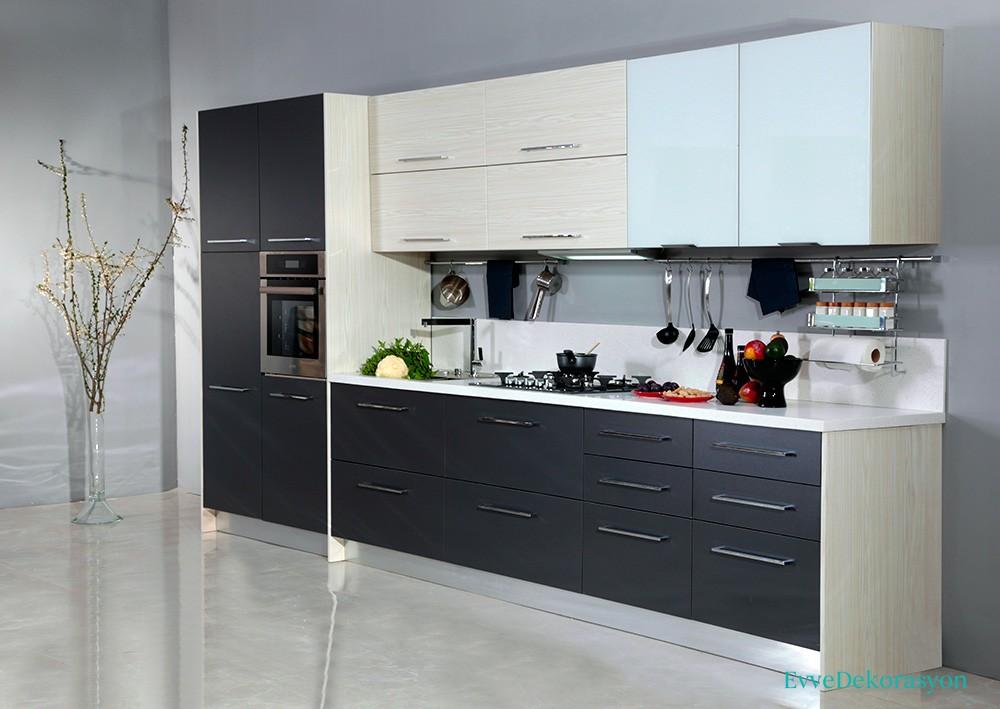 Füme Rengi Hazır Mutfak Modelleri