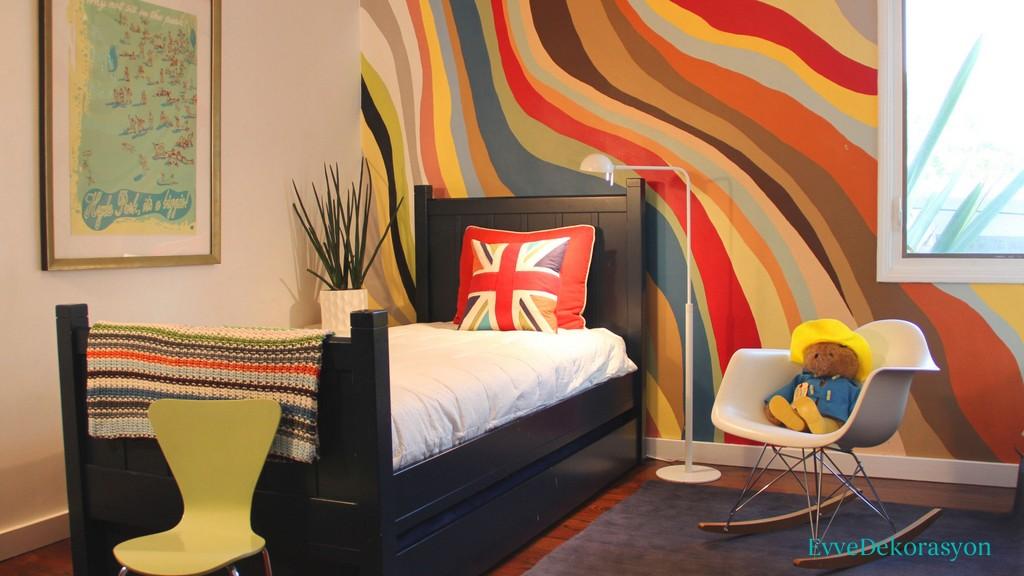 Genç Odası Rengarenk Boyaların Uyumu