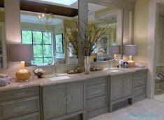 Gri Renk Banyo Dolap Tasarımı