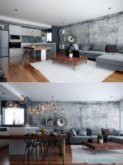 Farklı Renklerde Rustik Salonlar