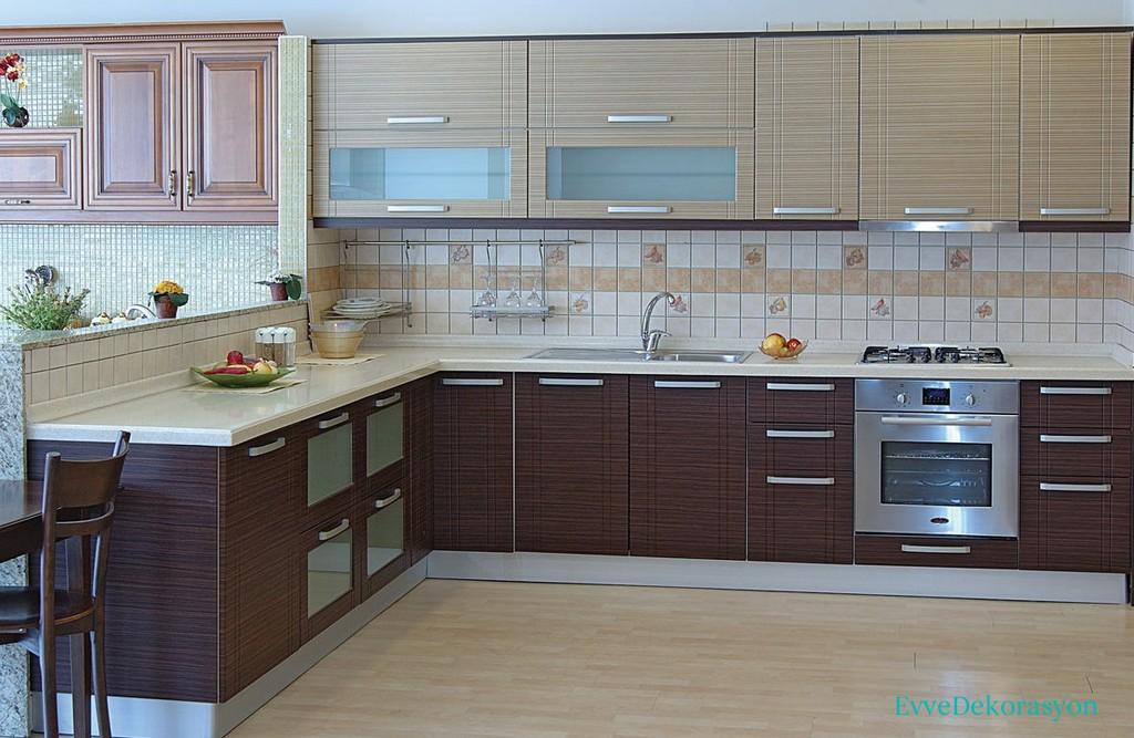 Hasır Desenli Mutfak Dolap Tasarımları