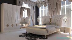 Harika Bir Yatak Odası Perdesi