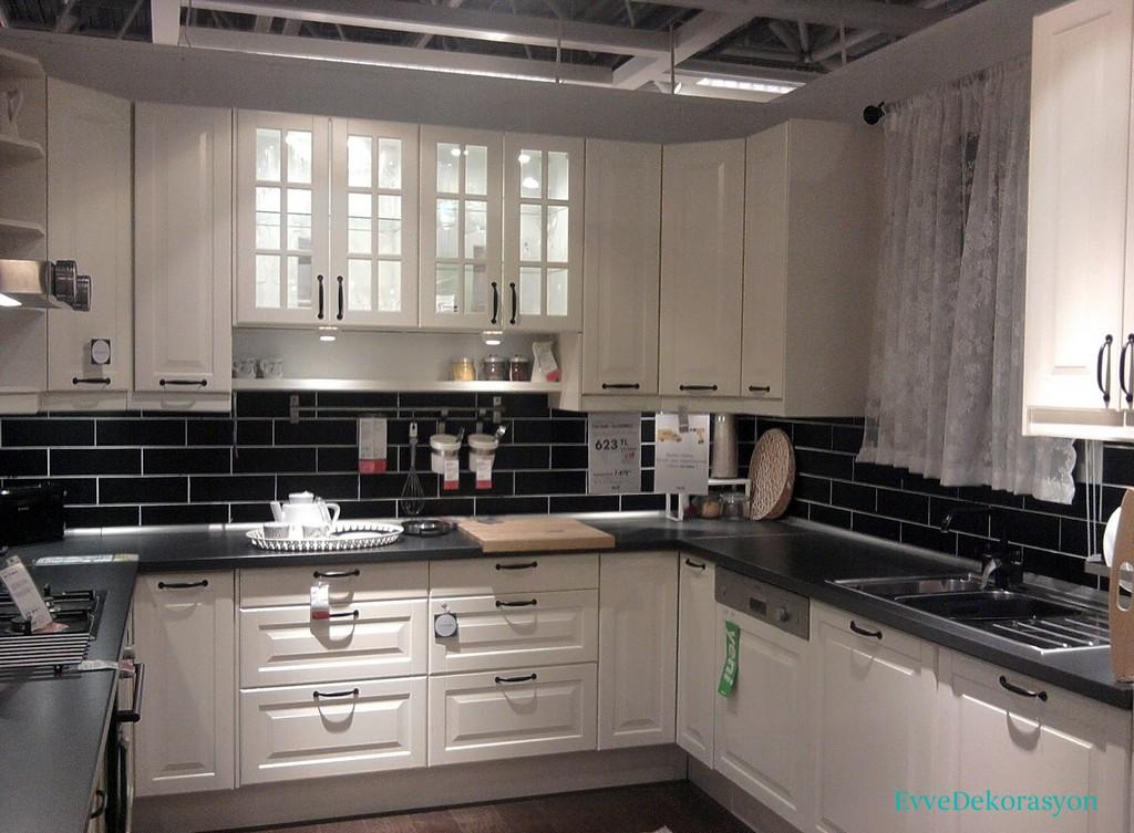 İkea Beyaz Mutfak Dolap Tasarımları