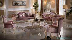 Pembe Klasik Salon koltuk Takımları