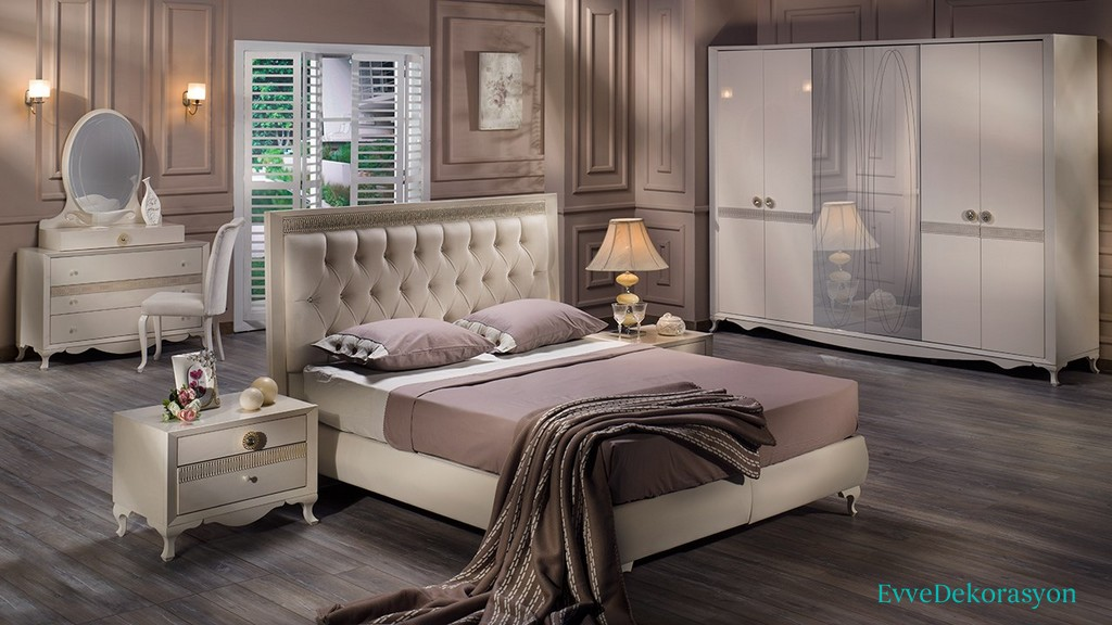 Krem Rengi Avangard Yatak Odası