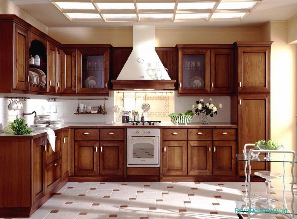 Ahşap Mutfak Dolabı Ve Dekorasyon