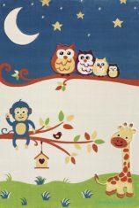 Çocuk Odası Mavi Beyaz Antibakteriyel Halılar