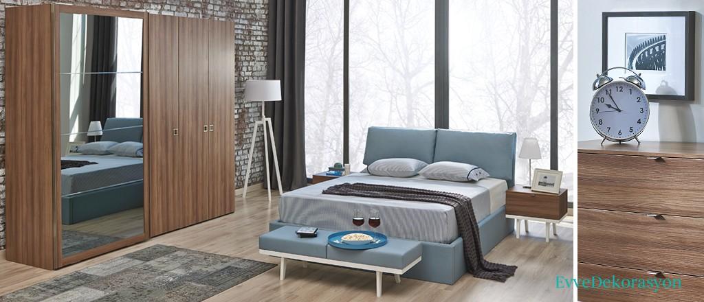 Ahşap Desen Yatak Odası Stilleri