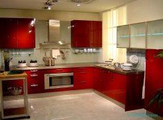 Kırmızı Modüler Mutfak Modelleri