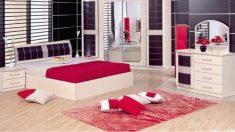 Yatak Odası Kırmızı Halı Modelleri