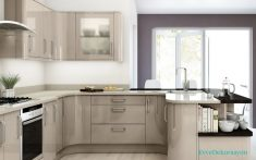 Camlı Mutfak Kapakları İle Mutfak Dolabı Modelleri