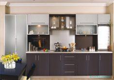 Koyu Renk Mutfak Dolap Tasarımı