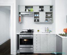 Krem Rengi Küçük Mutfak Modeli