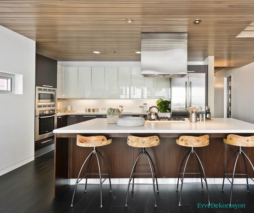 Krem Rengi Lake Mutfak Tasarımları Ve Fikirleri