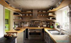 Küçük Mutfaklarda Açık Raf Modelleri