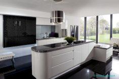 Kül Desenli Siyah Lake Mutfak Tasarımları Ve Fikirleri