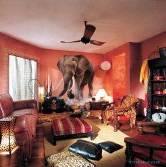 Etnik Desenlerde Afrika Temalı Bohem Tarzı Evler