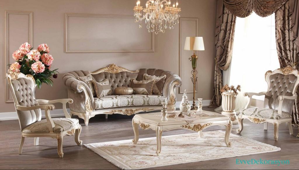 Luxury Mobilya Klasik Salon Takımı Modelleri