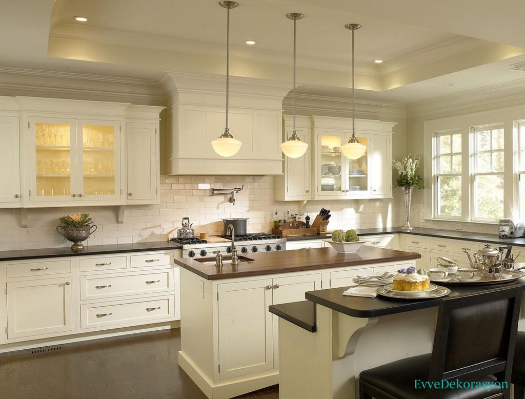 Modern Beyaz Mutfak Dolap Modelleri