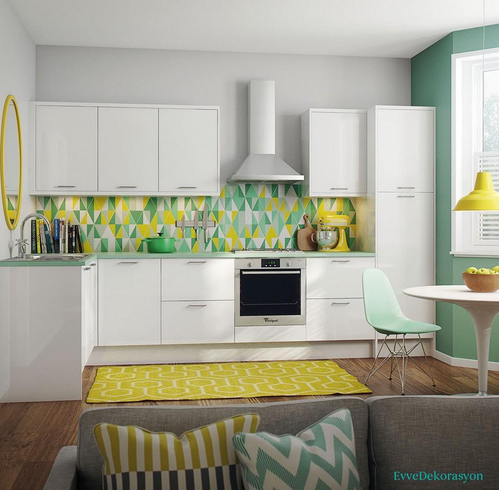 Mutfaklarda Modern Renkleri Kullanmak