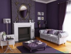 Evlerde Mor Renk İle Dekorasyon