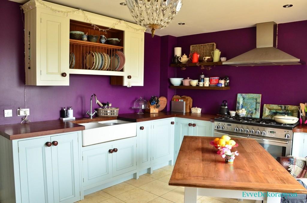 Mutfaklarda Mor Renk Boası Kullanmak