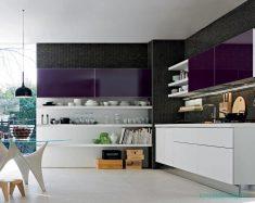Mürdüm Rengi Mutfak Dolap Fikirleri Ve Tasarımları