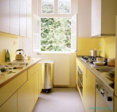 Sarı Renk Küçük Mutfak Modelleri