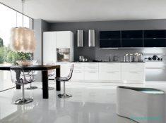 Mutfaklara Siyah Ve Beyaz İle Uyumlu Renk Fikirleri