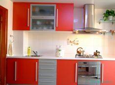 Mutfak Dolaplarında Kırmızı Renk Tonları