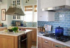 Mutfak Mavi Duvarlar