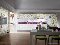 Desenli Ve Rengarenk Mutfak Dolapları