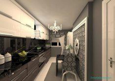 Dar Mutfaklarda Duvar Kağıdı Fikirleri