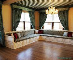 Evlerde Otantik Salon Dekorasyonu