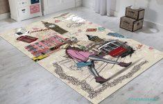Londra Desenli Çocuk Odası Halısı