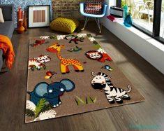 Hayvan Figürlü Çocuk Odası Halısı