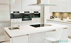 Parlak Beyaz Lake Mutfak Modası Ve Modelleri