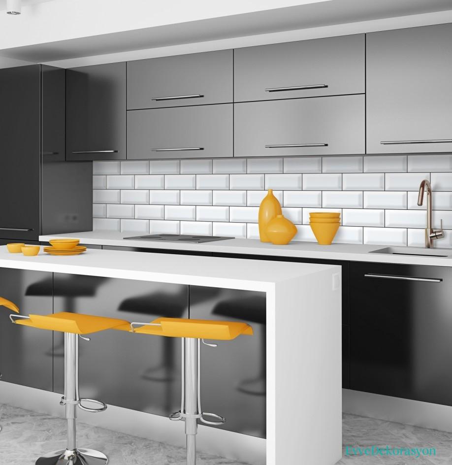 Mutfaklarda Siyah Ve Sarı Renk Kullanımı